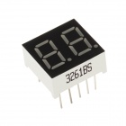 3261BS 0.8 Inch 2bit Common Anode Red LED Digital 7-Segment Display - Black + White (5PCS)