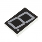 23011BS 3.3 Inch 1bit Common Anode Red LED Digital 7-Segment Display - Black + White (5PCS)