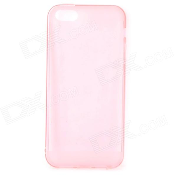 S-What Stylish 0.5mm Thin TPU Back Case w/ 3.5mm Anti-dust Plug for IPHONE 5 / 5S - Pink protective pc tpu back case for iphone 5 w anti dust cover lavender purple
