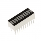 B10G 1.1 Inch 10 Segment Green LED Digital Display Module - Black + White (5 PCS)