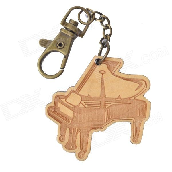 DEDO MG-45 Wood Piano Pendant Keychain - Wood