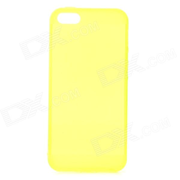 S-What Stylish 0.5mm Thin TPU Back Case w/ 3.5mm Anti-dust Plug for IPHONE 5 / 5S - Green