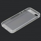 S-What Stylish 0.5mm Thin TPU Back Case w/ 3.5mm Anti-dust Plug for IPHONE 5 / 5S - White