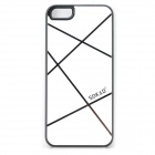 Sokad Sokad-ES15 Stylish Grid Pattern PC + ABS Back Case for IPHONE 5 / 5S - White