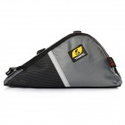 YANHO 1310 Oxford Fabric Bike Front Tube Triangle Bag - Black + Grey
