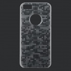 Stylish Thin Plaid Pattern Glow-in-the-dark Plastic Back Back Case for IPHONE 5 / 5S / 5C - White