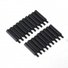 ZnDiy-BRY M3 x 24 + 6 Nylon Spacer Hex Nylon Pillars for Multicopter RC Model - Black (20 PCS)