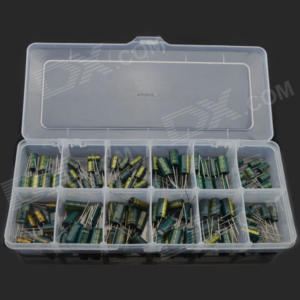 MaiTech 12 Kinds of Common Electrolytic Capacitor Set - Green (120 PCS) maitech 12 x 8mm 63v100uf electrolytic capacitors black 10 pcs