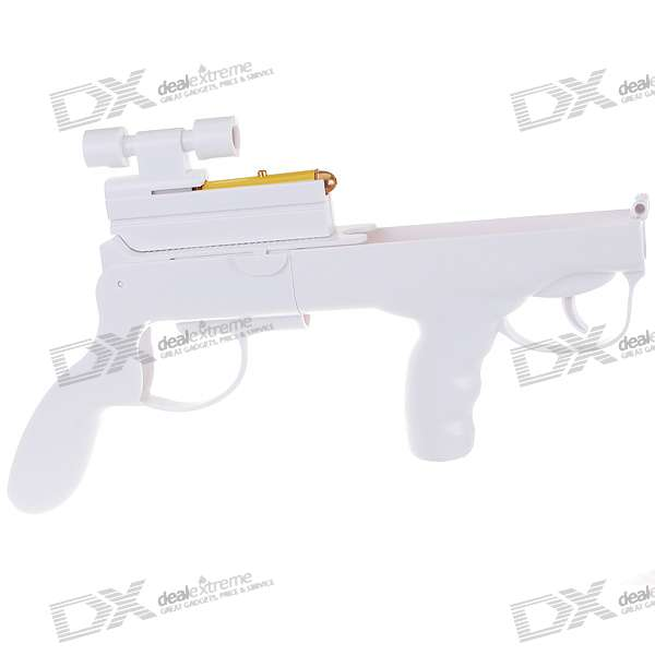 Gun Controller with Red Laser Sight for Wii