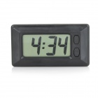 "T20 2.0"" LCD Car Electronic Clock w/ Velcro - Black (1 x AG10)"