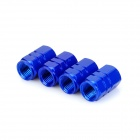 INFORMYI YFY-10 Aluminum Alloy Car Tire Valve Caps - Blue (4 PCS)