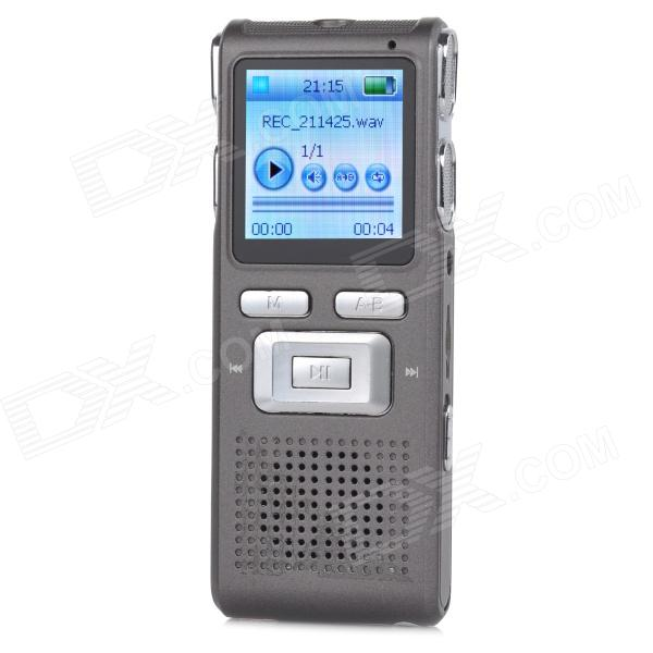 Thchi XMX-R41 1.4 LCD Rechargeable Digital Voice Recorder w/ MP3 Player - Dark Grey (8GB) sony icd ux544f 8gb digital voice recorder with built in usb