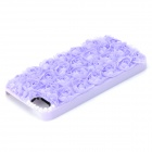 Sweet Lace Rose Decorated Plastic Back Case for IPHONE 5 / 5S - Purple