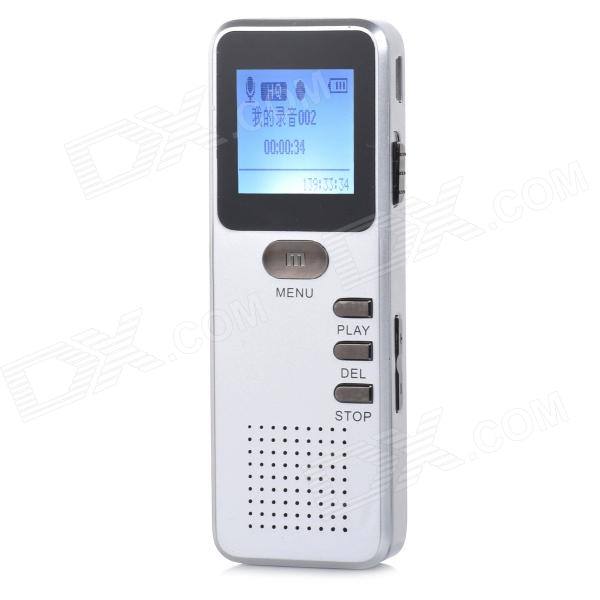 Thchi YMX-R31 1.0 LCD Rechargeable Digital Voice Recorder w/ MP3 Player - Silvery White (8GB) thchi ymx r37 1 3 lcd rechargeable digital voice recorder w mp3 player speaker black 8gb