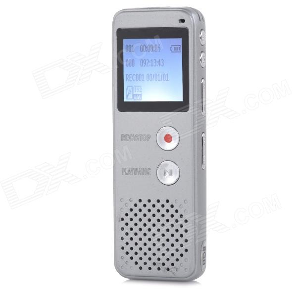 Thchi YMX-R39 1.6 LCD Screen Rechargeable Digital Voice Recorder w/ MP3 Player - White (8GB) thchi ymx r37 1 3 lcd rechargeable digital voice recorder w mp3 player speaker black 8gb