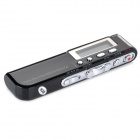 "YMX-R37 1.3"" LCD Rechargeable Digital Voice Recorder w/ MP3 Player / Speaker - Black (8GB)"