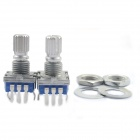 MaiTech 5-pin Short Handle Rotary Encoder Switches - Silver (2PCS)