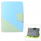 PU Leather Case Stand w/ Auto Sleep Cover / Card Slots for RETINA IPAD MINI - Blue + Green