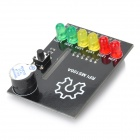 MS100A BerryClip 6 - LED Add-on Junta Junta de aprendizaje de Python para Raspberry Pi - Negro