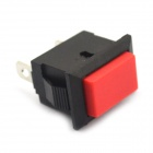 MaiTech OFF / ON 2-Pin Button Switch - Black + Red (5 PCS / 125~250V)