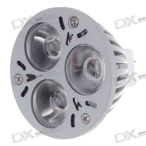 MR16 3W 3-LED 6500K Light Bulb - White (12V)