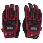 Mad Bike MAD-11 Bike Professional Full-Finger Racing Gloves w / Touch Screen - Red + Black (Size-L)