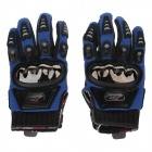 MAD-01S Mad bike Professional Full-Finger Racing Gloves - Blue + Black (Size M)
