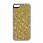 SFLP-123 Shimmering Power PC Protective Back Case for IPHONE 5 / 5S - Golden