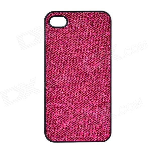 SFLP-122 Shimmering PC Protective Back Case for IPHONE 4 / 4S - Deep Pink stylish protective shining abs back case for iphone 4 4s deep pink silver