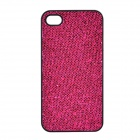 SFLP-122 Shimmering PC Protective Back Case for IPHONE 4 / 4S - Deep Pink