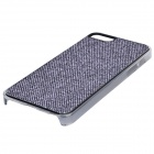 SFLP-123 Shimmering Power PC Protective Back Case for IPHONE 5 / 5S -Black