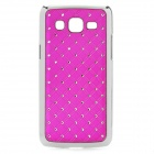Stylish Protective Rhinestone ABS Back Case for Samsung G3812 - Purple + Silver