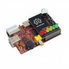 Raspberry Pi Project Board + MS100A BerryClip 6 LED Add-on Board Python Learning Board - Black + Red