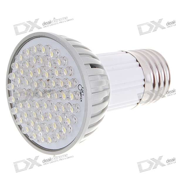 E27 3.8W Cree 60-LED 6500K 300-Lumen Light Bulb - White (85~265V) e27 6w 6 led 540 lumen 6000k white light bulb 85 265v ac