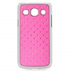 Stylish Protective Rhinestone ABS Back Case for Samsung G3502 - Deep Pink + Silver