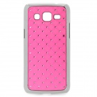 Stylish Protective Rhinestone ABS Back Case for Samsung G3812 - Deep Pink + Silver