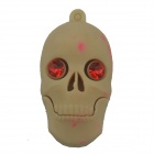 Skull Style USB 2.0 Flash Drive Disk - Khaki + Red (4GB)