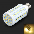 E27 10W 350lm 3500K 60-5050 SMD LED Warm White Lamp - White (AC 220~240V)