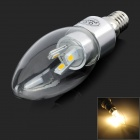 ShengDaGuang E14 3W 300lm 3500K 6-5730 SMD LED Lampe blanche chaude-Blanc (AC 85 ~ 265V)