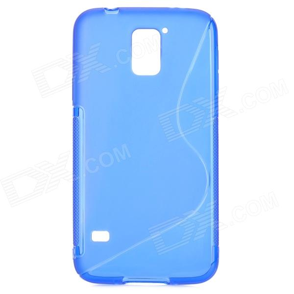 HD-1152 S Style Protective Plastic Back Case for Samsung Galaxy S5 - Blue cm001 3d skeleton pattern protective plastic back case for samsung galaxy s4
