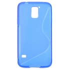 "HD-1152 ""S"" Style Protective Plastic Back Case for Samsung Galaxy S5 - Blue"