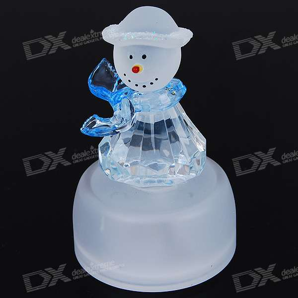 Colorful Light LED Snowman Desktop Display Toy (3*AG13) clear acrylic a3a4a5a6 sign display paper card label advertising holders horizontal t stands by magnet sucked on desktop 2pcs