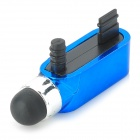 S-What Data Port + Earphone Jack Anti-Dust Plug w/ Stylus Pen for IPHONE 5 / 5S - Blue