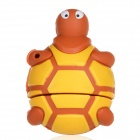 Cute Cartoon Tortoise Style USB 2.0 Flash Drive - Brown + Yellow (16GB)