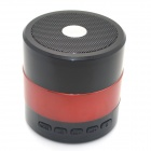 SARDINE SDY-001 Mini Portable Super Bass Bluetooth V3.0 Speakers w/ TF / FM / USB - Black + Red