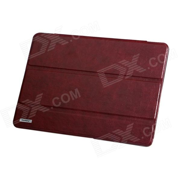 Remax Proteção PU Leather + PC Case w / stand para Samsung Galaxy Tab 10.1 Pro T520 - Brown
