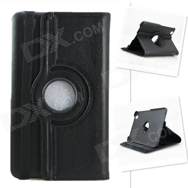 Lychee Grain Style 360 Degree Rotation PU Leather Case for Samsung Galaxy Tab Pro T320 8.4 - Black lychee grain style 360 degree rotation pu leather case for samsung galaxy tab pro t320 8 4 black