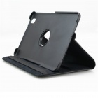 Lychee Grain Style 360 Degree Rotation PU Leather Case for Samsung Galaxy Tab Pro T320 8.4 - Black