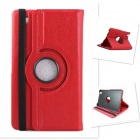 Lychee Grain Style 360 Degree Rotation PU Leather Case for Samsung Galaxy Tab Pro T320 8.4 - Red
