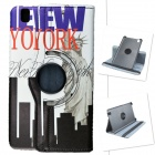 US National Flag Statue of Liberty Style PU Leather Case for Samsung Galaxy Tab Pro T320 8.4 - White